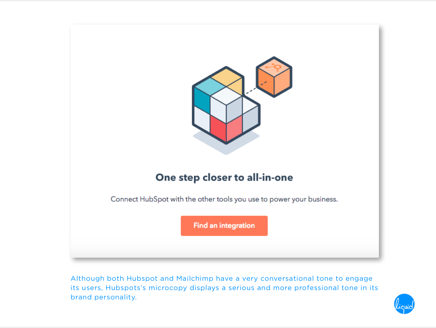 Microcopy on Hubspot for Integrations