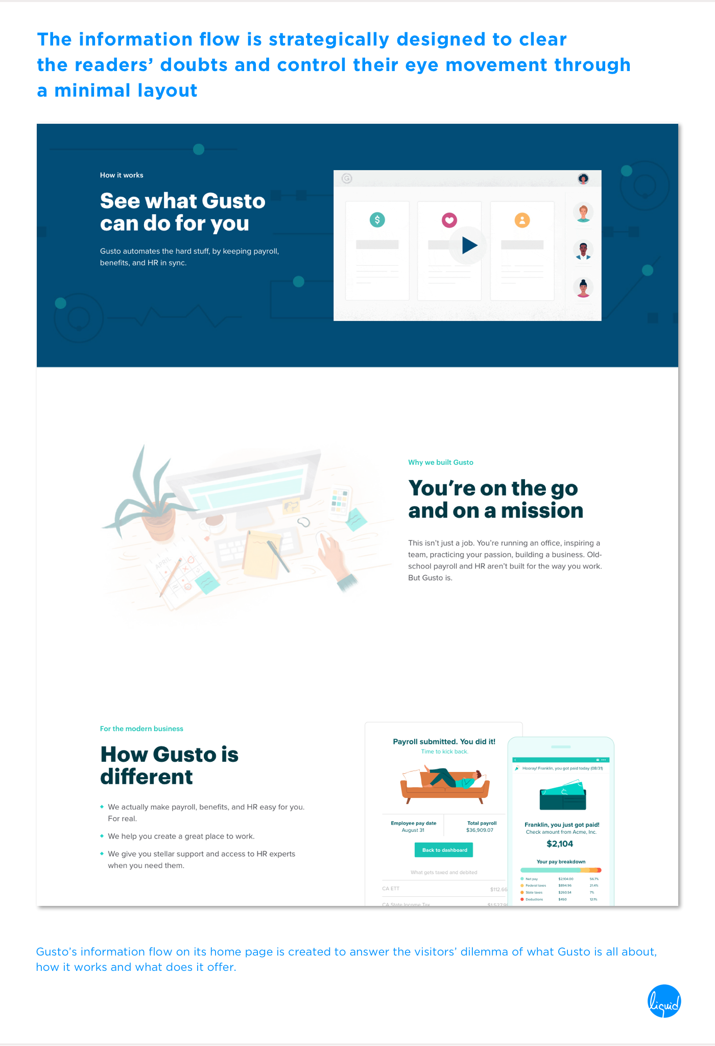 Conversions on home page Gusto Eye Movement